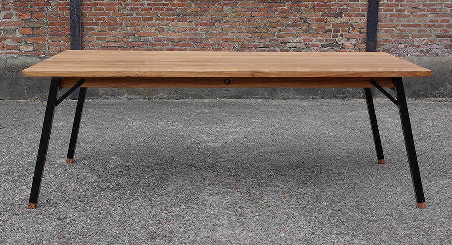 Tafel Hout Staal : Tafel ontwerp hout en staal youtube